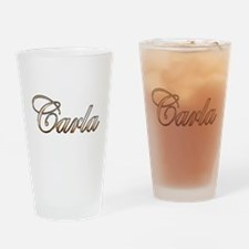Cute Carla Drinking Glass