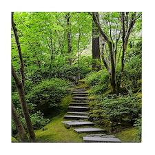 garden path Tile Coaster
