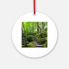 garden path Round Ornament