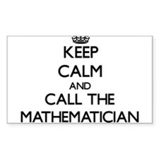 Keep calm and call the Mathematician Decal