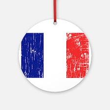Vintage France Ornament (Round)