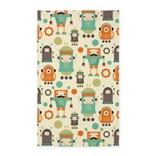 Cute Robot Lover 3'x5' Area Rug