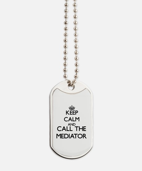 Funny Keep calm and carry on red Dog Tags