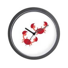 Two Crabs Wall Clock