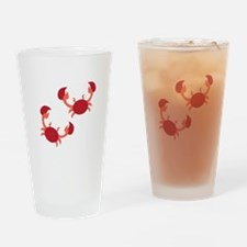 Two Crabs Drinking Glass