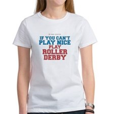 Roller Derby Slogan Tee