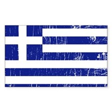 Vintage Greece Rectangle Decal