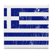 Vintage Greece Tile Coaster