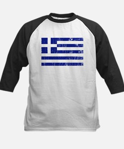 Vintage Greece Kids Baseball Jersey