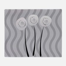 White Roses Throw Blanket