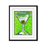 Polka Martini Framed Panel Print