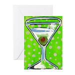 Polka Martini Greeting Cards (Pk of 10)