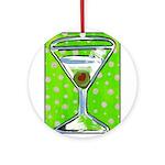 Polka Martini Ornament (Round)