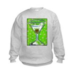 Polka Martini Kids Sweatshirt