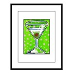 Polka Martini Large Framed Print