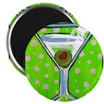 Polka Martini Magnet