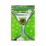 Polka Martini Rectangle Magnet (100 pack)