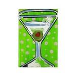 Polka Martini Rectangle Magnet (10 pack)