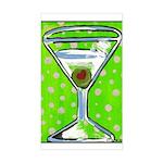 Polka Martini Rectangle Sticker