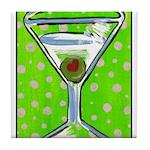 Polka Martini Tile Coaster