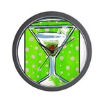 Polka Martini Wall Clock
