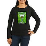 Polka Martini Women's Long Sleeve Dark T-Shirt