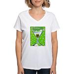 Polka Martini Women's V-Neck T-Shirt