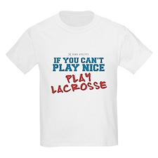 Remix Lacrosse Sports Slogan Kids T-Shirt