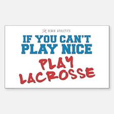 Remix Lacrosse Sports Slogan Rectangle Decal