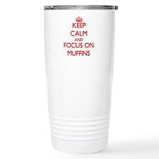 Cute I heart muffins Travel Mug