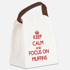 Cute I heart muffins Canvas Lunch Bag