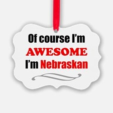 Nebraska Is Awesome Ornament