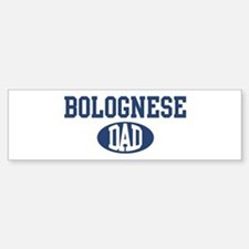 Bolognese dad Bumper Car Car Sticker