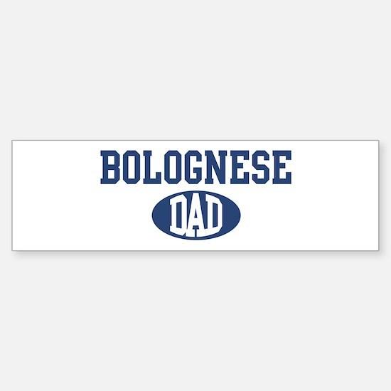 Bolognese dad Bumper Car Car Sticker