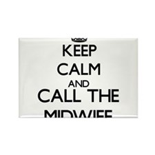 Keep calm and call the Midwife Magnets