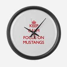 Unique Ford mustang Large Wall Clock