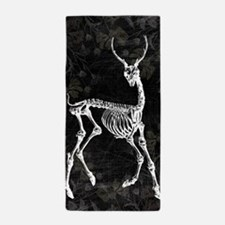 Prancing Deer Skeleton Beach Towel