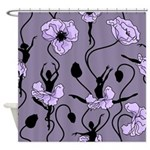 Ballerina Poppies In Violet Shower Curtain