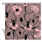 Ballerina Poppies In Blush Pink Shower Curtain