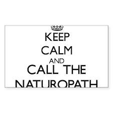 Keep calm and call the Naturopath Decal