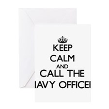Keep calm and call the Navy Officer Greeting Cards