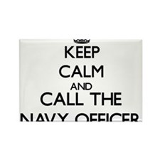 Keep calm and call the Navy Officer Magnets