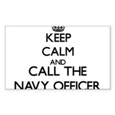 Keep calm and call the Navy Officer Decal