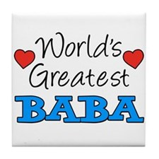 Worlds Greatest Baba Tile Coaster