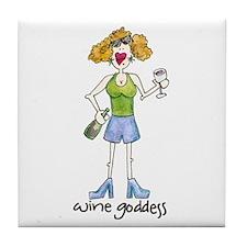 Diva Wine Goddess Tile Coaster