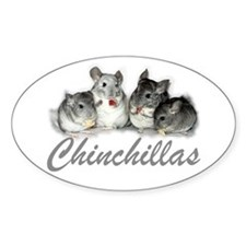 Chinchillas Oval Decal