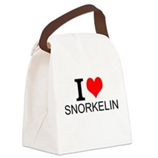 I Love Snorkeling Canvas Lunch Bag