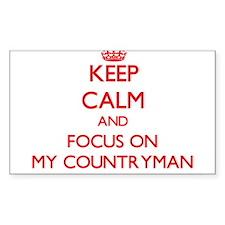 Keep Calm and focus on My Countryman Decal