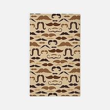 Mustache Lover Vintage 3'x5' Area Rug