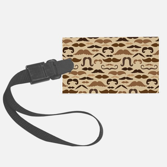 Mustache Lover Vintage Large Luggage Tag